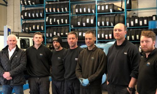 HiQ Rushden team picture- Paul, Gary, Paul, Jason, Matt, David, Michael