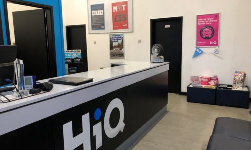 HiQ Coventry reception area
