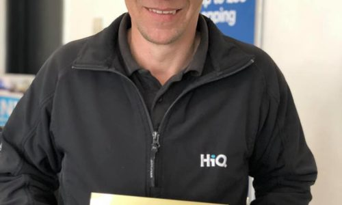 Jason at HiQ Coventry receiving their Gold Standard Award 2019