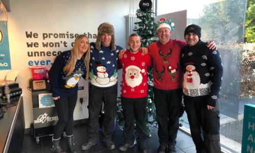 HiQ Nottingham team- Christmas jumper day 2018