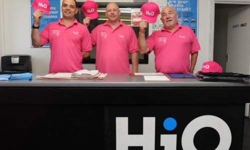 HiQ Kettering team In the Pink- raising money for Breast Cancer Care