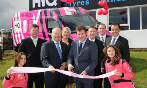 Cutting the ribbon at HiQ Kettering- re-launch September 2010