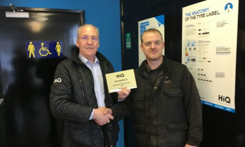 HiQ Shrewsbury- Rob receiving their Gold Standard Award 2018