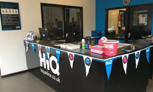 HiQ Shrewsbury reception desk