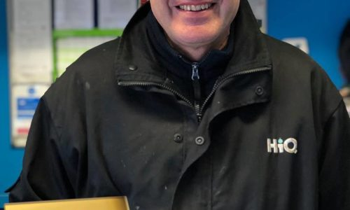 Kevin at HiQ Evesham receiving their Gold Standard Award 2019