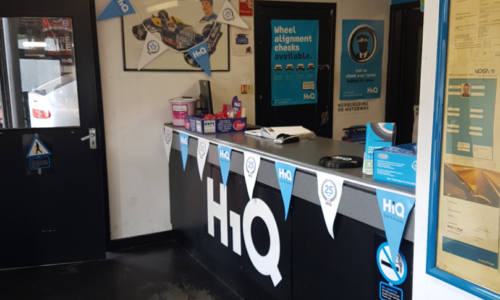 HiQ Oldbury reception area