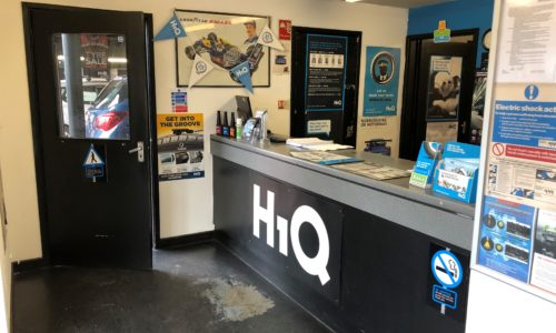 HIQ Oldbury reception desk