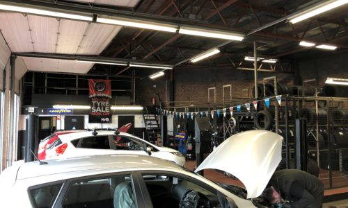 HiQ Oldbury cars in workshop
