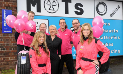 HiQ Stafford team In the pink
