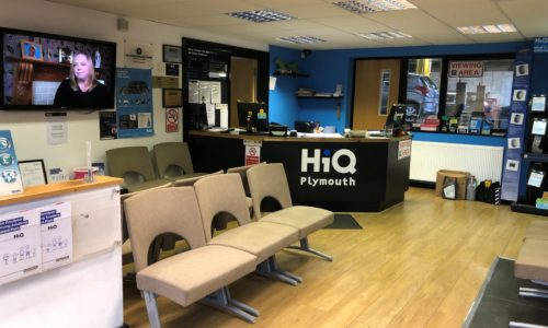 HiQ Plymouth reception and waiting area