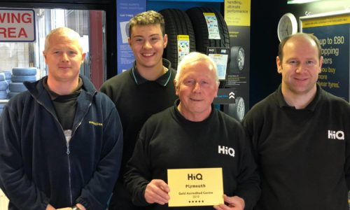 Bob and the team receiving their Gold Standard Award 2019 - HiQ Plymouth