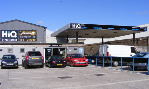 HiQ Plymouth entrance and car park