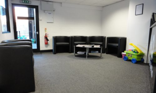HiQ Tunbridge Wells waiting area