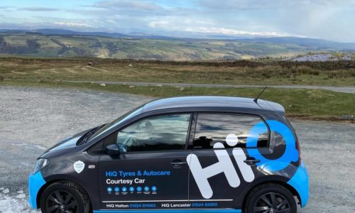 Hi Q Tyres Autocare Lancaster and Holton Courtesy Car in the countryside
