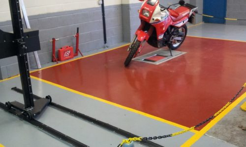 HiQ Northwich- motorcycle MOT bay