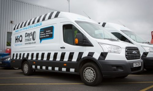 HiQ (Day's) Gorseinon mobile vans- tyres, brakes, exhausts, servicing, batteries, MOTs