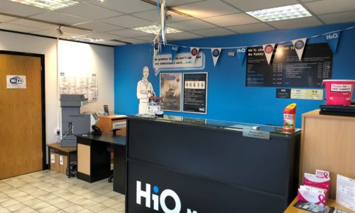 HiQ Malvern reception area