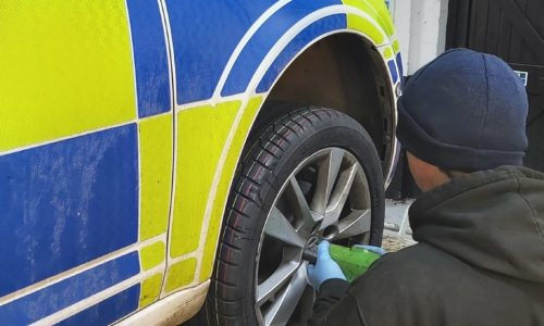 Hi Q Tyres Autocare Burton servicing the police