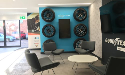 HiQ Castrol waiting area chairs