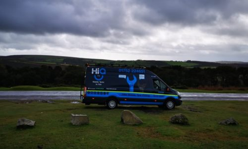 Hi Q Tyres Autocare Plymouth Van in the countryside