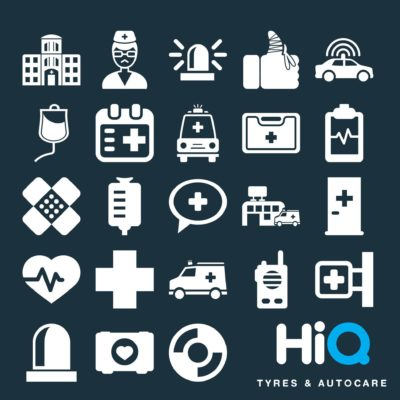 COVID emergency service icons
