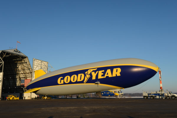 Goodyear Blimp 2014 before taking off