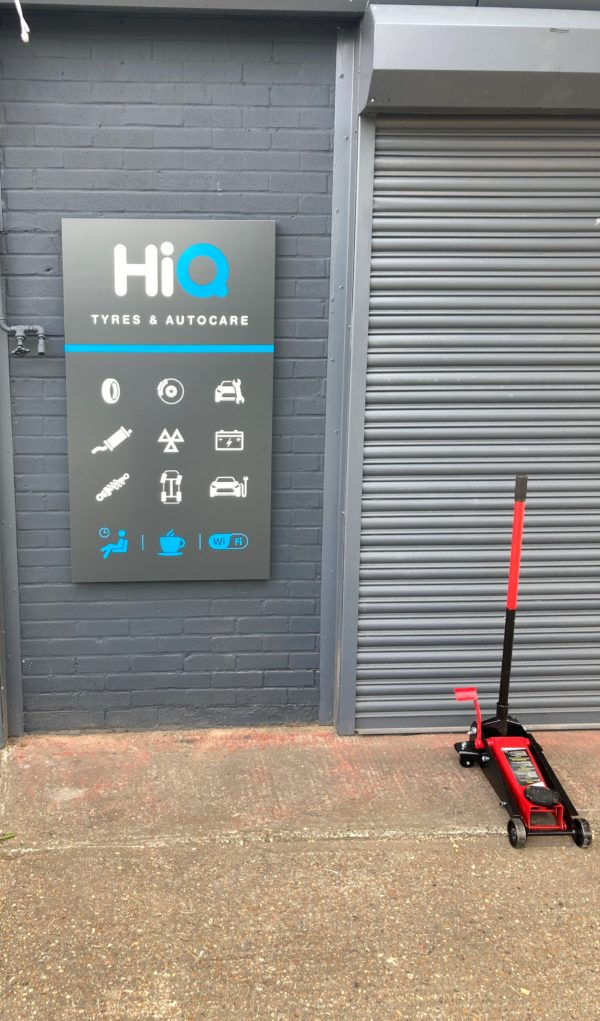 HIQ Tyres Autocare Ashford sign on front