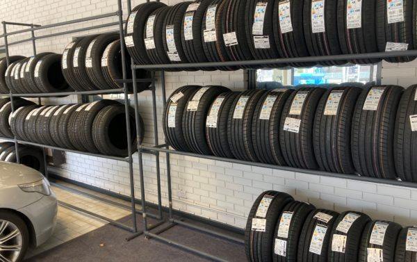 Hi Q Tyres Autocare Bexhill tyre wall
