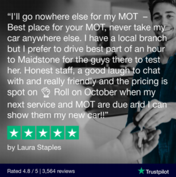 Hi Q Tyres Autocare Maidstone 5 Star review