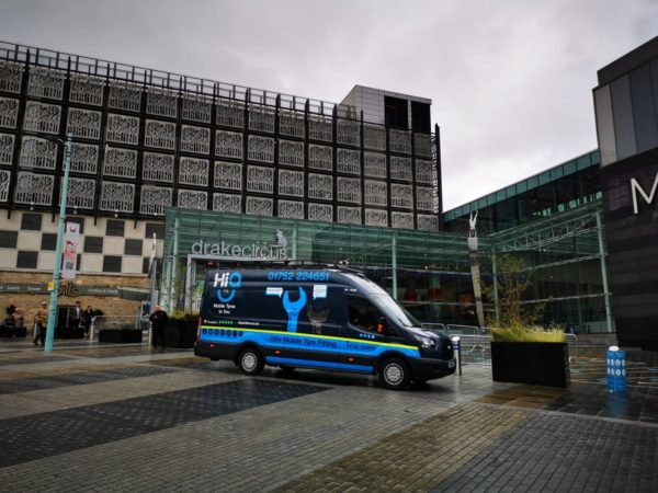 Hi Q Tyres Autocare Plymouth Van at the drake circus centre