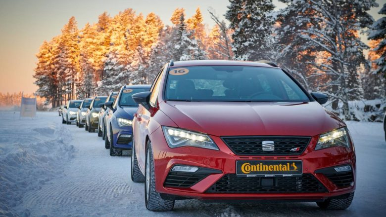 Continental beauty image cars on snow track