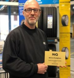 HiQ Tyres & Autocare Wolverhampton team member and gold Centre.jpg
