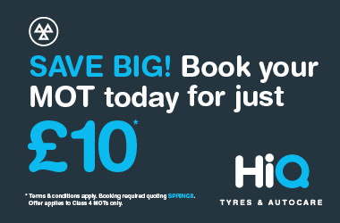 Book your MOT today for just £10.