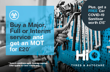 Buy a Major, Full or Interim Service and get an MOT £20.