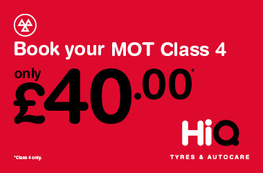 Book your Class 4 MOT today for just £40.