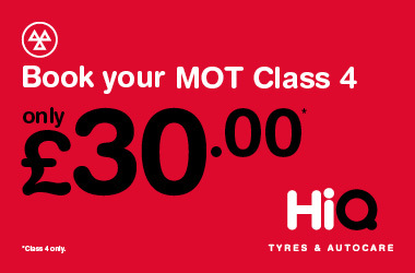 Book your Class 4 MOT today for just £30.
