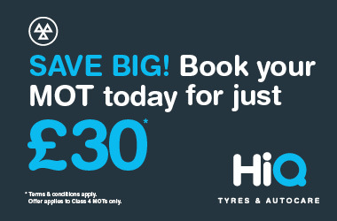 Save big! Book your MOT today for just £30.