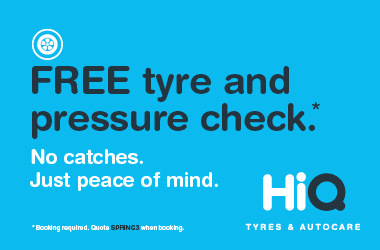 Free tyre and pressure health check.